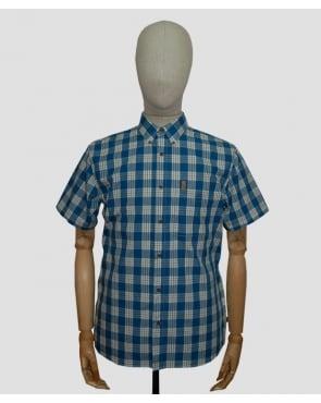 Fjallraven Ovik Button Down Shirt Lake Blue