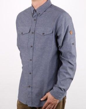 Fjallraven Ovik Chambray Shirt Navy