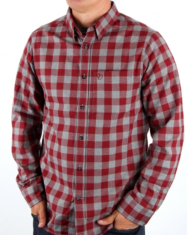 Fjallraven Ovik Check Shirt Red Oak