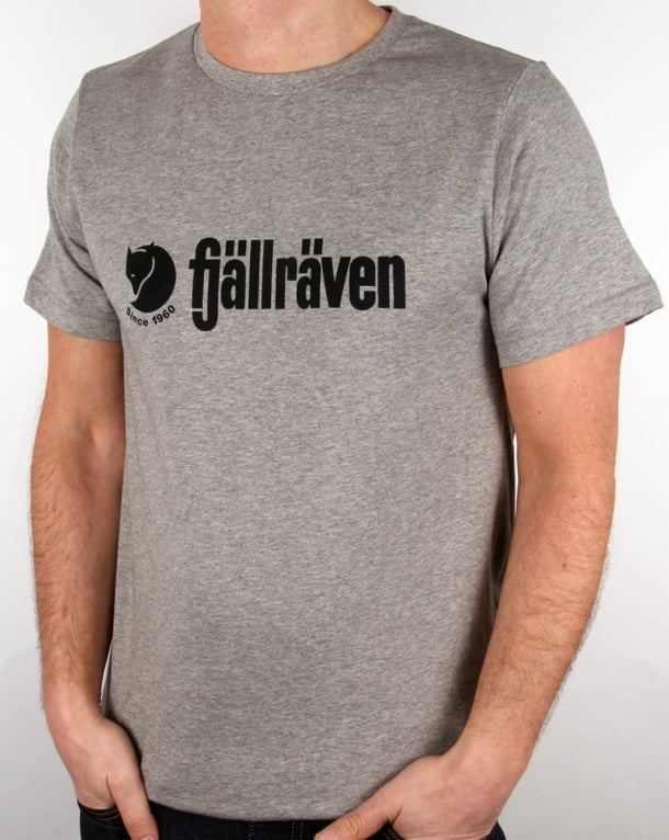Fjallraven Retro Logo T Shirt Grey