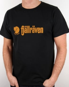 Fjallraven Retro Logo T Shirt Navy