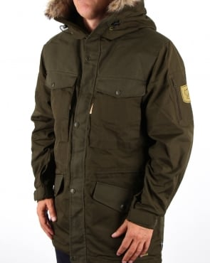 Fjallraven Singi Winter Jacket Dark Olive