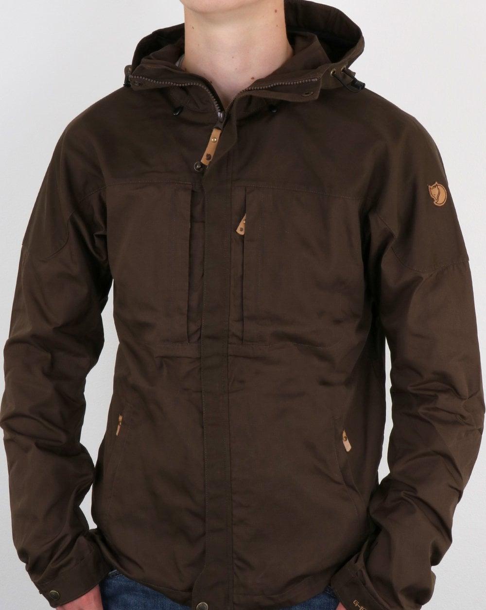 Fjallraven Skogso Jacket Dark Olive Hooded Parka Coat Rain