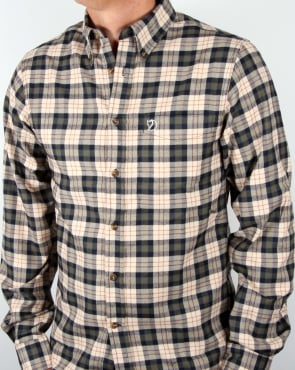 Fjallraven Stig Flannel Shirt Chalk White