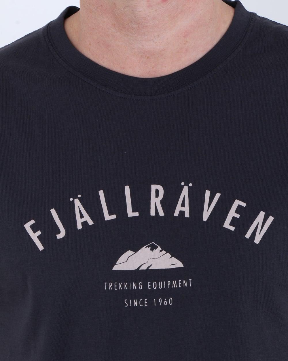 Fjallraven Trekking Equipment T Shirt Dark Navy, Mens, Tee, Crew Neck 630d708c4b