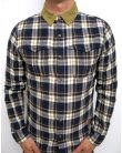 Fly 53 Heathwood Check Shirt Midnight Navy
