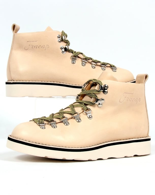 Fracap M120 Scarponcini Leather Boots Natural