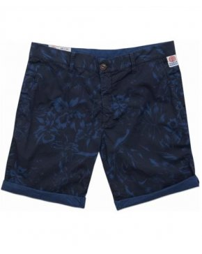 Franklin And Marshall Floral Bermuda Shorts Blue/Black
