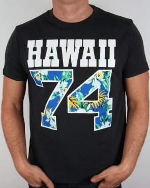 Franklin And Marshall Hawaii 74 T-shirt Black
