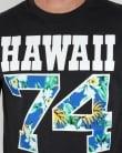 Franklin And Marshall Hawaii 74 T-shirt Black