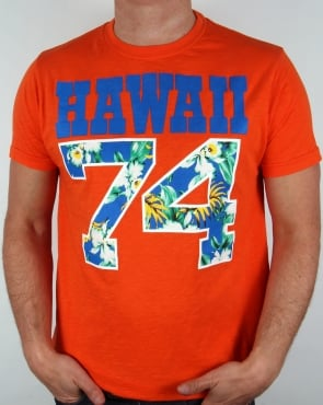 Franklin And Marshall Hawaii 74 T-shirt Orange