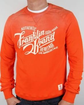 Franklin And Marshall Heritage Logo Sweatshirt Orange