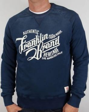 Franklin And Marshall Heritage Logo Sweatshirt Original Blue