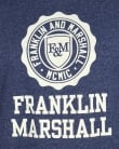 Franklin And Marshall Large Logo T-shirt Blue Melange
