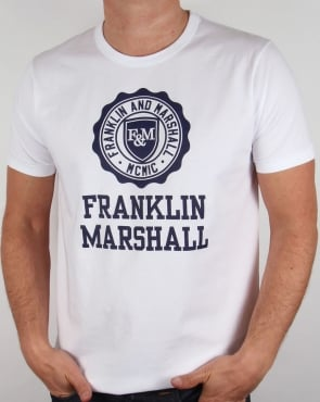 Franklin And Marshall Large Logo T-shirt White
