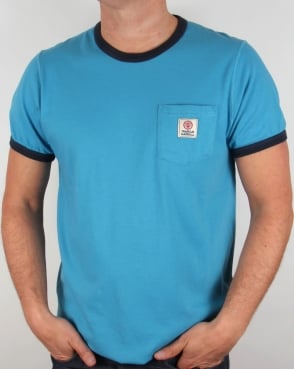 Franklin And Marshall Pocket Ringer T-shirt Cloud Blue