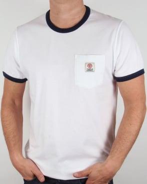 Franklin And Marshall Pocket Ringer T-shirt White
