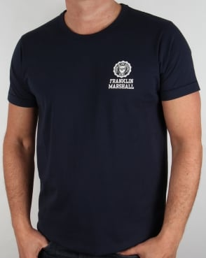 Franklin And Marshall Small Logo T-shirt Navy