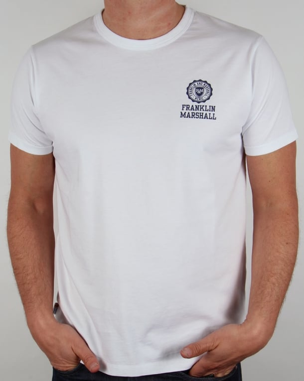 Franklin And Marshall Small Logo T-shirt White