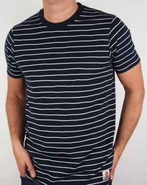 Franklin And Marshall Striped T-shirt Navy/White