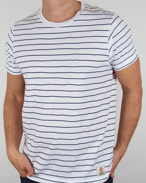Franklin And Marshall Striped T-shirt White/Navy