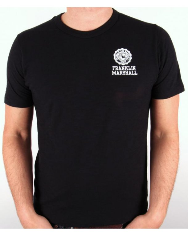 Franklin And Marshall T-shirt Circle Logo Black Marl