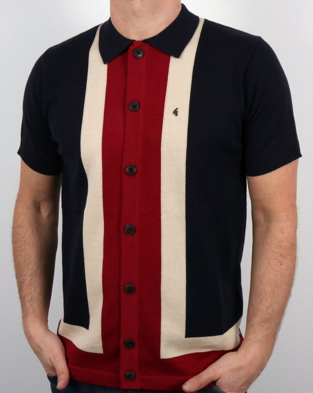 Gabicci Vintage Angelo Polo Shirt Navy