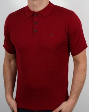 Gabicci Vintage Bennett Polo Shirt Deep Red