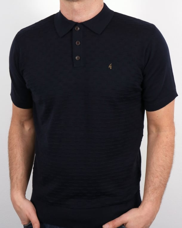 Gabicci Vintage Bennett Polo Shirt Navy