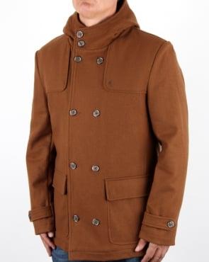 Gabicci Vintage Duffle Coat Tan