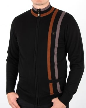 Gabicci Vintage Forum Knitted Zip Black