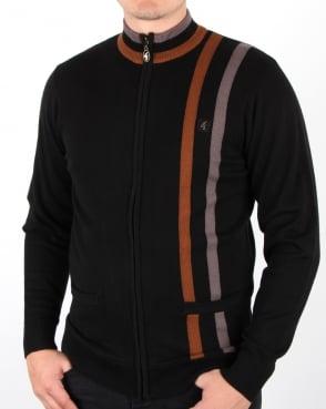 Gabicci Vintage Forum Knitted Zip Black