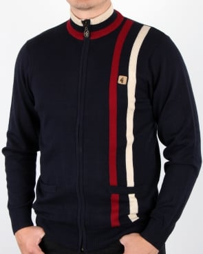 Gabicci Vintage Forum Knitted Zip Navy