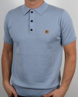 Gabicci Vintage Jackson Polo Shirt Light Blue