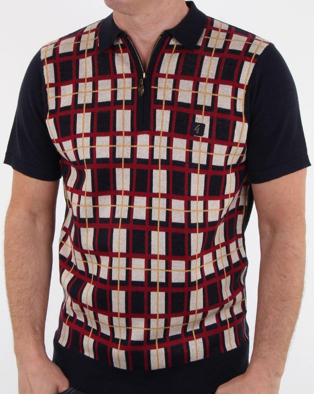 9b1e07f8a Gabicci Vintage Gabicci Vintage Krypton Knitted Polo Shirt Navy