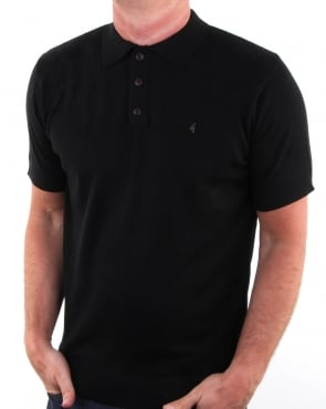 Gabicci Vintage Clothing Gabicci Vintage Masso Polo Shirt Black