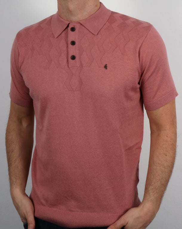 Gabicci Vintage Masso Polo Shirt Candy Pink