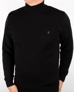 Gabicci Vintage Polo Neck Jumper Black