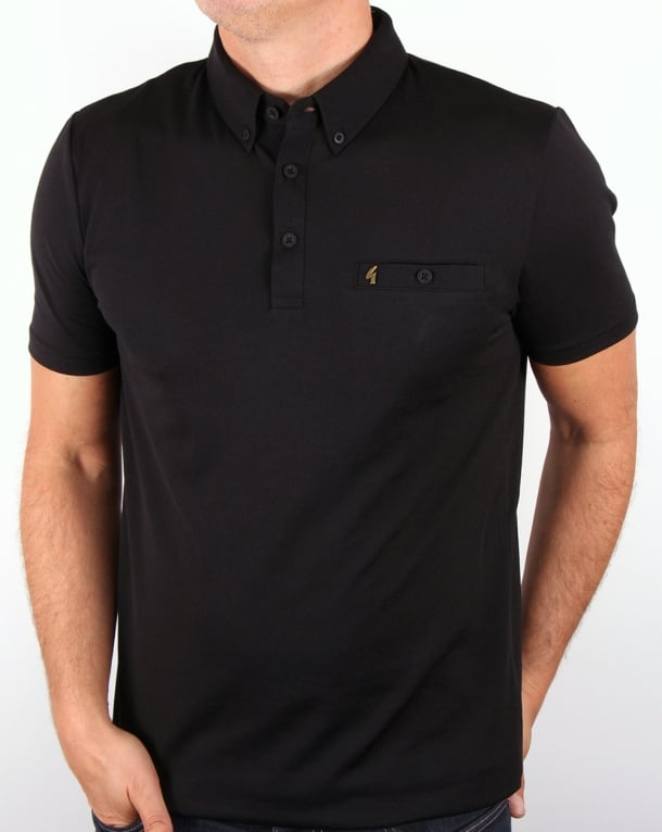 Gabicci Vintage Polo Shirt Black