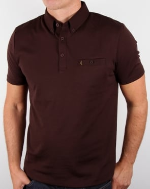 Gabicci Vintage Polo Shirt Coffee