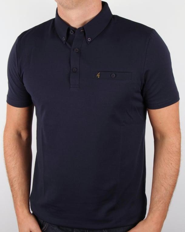 Gabicci Vintage Polo Shirt Navy