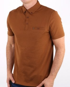 Gabicci Vintage Polo Shirt Toffee