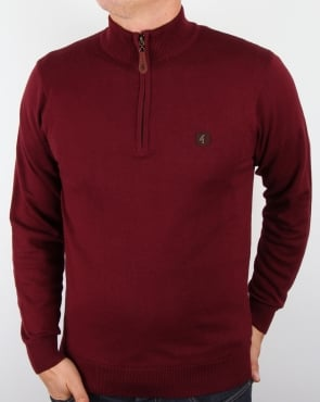 Gabicci Vintage Quarter Zip Jumper Port
