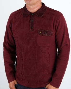Gabicci Vintage Clothing Gabicci Vintage Romero Collared Jumper Port