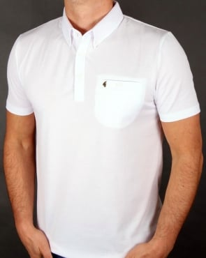 Gabicci Vintage Short Sleeve Polo Shirt White
