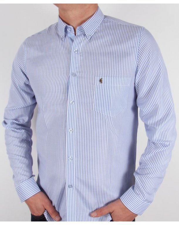 Gabicci Vintage Striped Shirt Blue/white