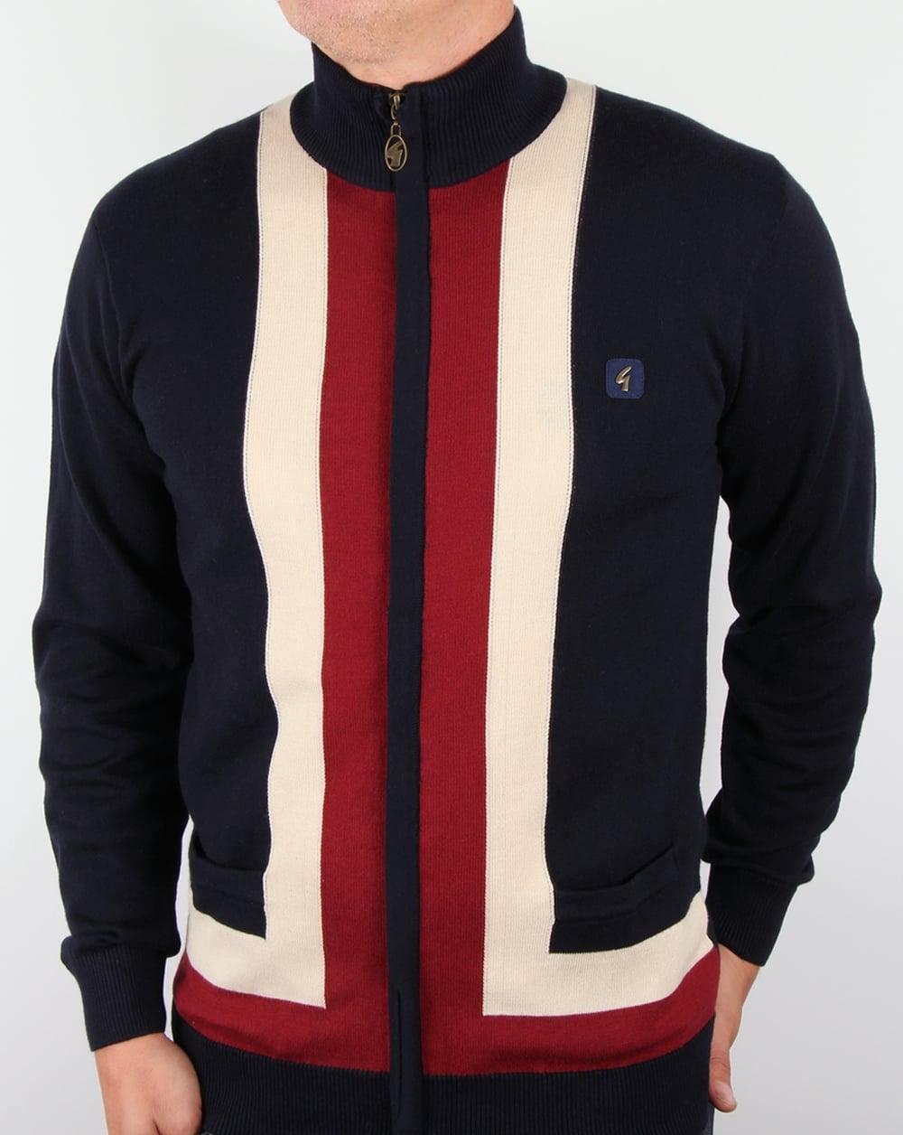 Gabicci Vintage Zip Cardigan Navy,jumper,sweater,knit,mens