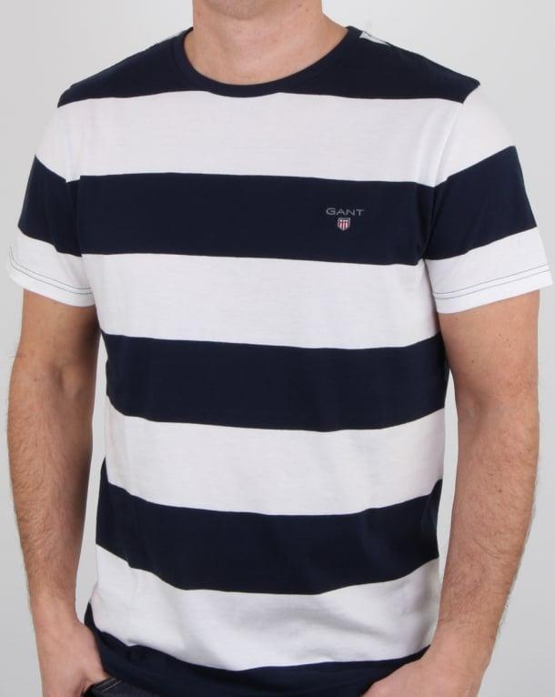 Gant Barstripe T Shirt Eggshell