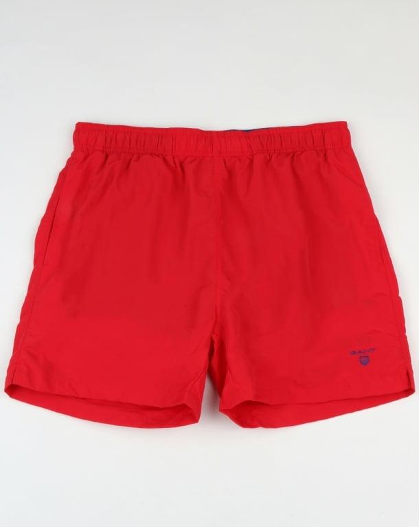 Gant Basic Swim Shorts Bright Red
