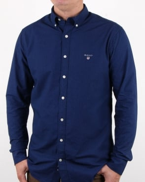 Gant Broadcloth Dot Shirt Yale Blue